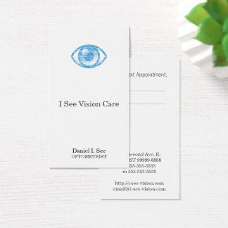 Cartão De Visitas Olho-Engodo azul do estilo da tipografia