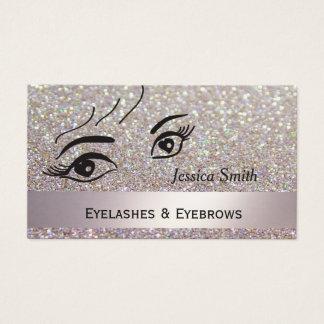 Cartão De Visitas Olhos de fascínio glittery elegantes Glam do