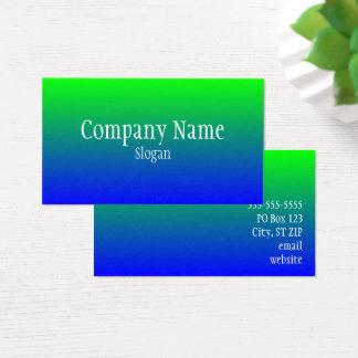 Cartão De Visitas Ombre azul verde