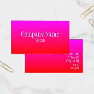 Cartão De Visitas Ombre magenta vermelho