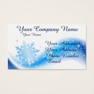 Cartão De Visitas Onda do floco de neve