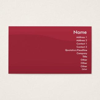 Cartão De Visitas Onda Rubyred - negócio