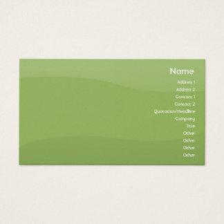 Cartão De Visitas Ondas de Foamgreen - negócio