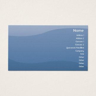 Cartão De Visitas Ondas do azul - negócio