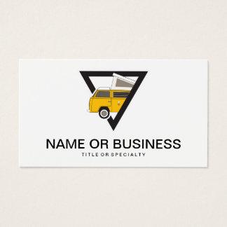 Cartão De Visitas ônibus amarelo clássico do triângulo