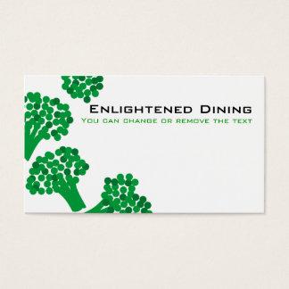 Cartão De Visitas ônibus de jardinagem de jantar saudável vegetal