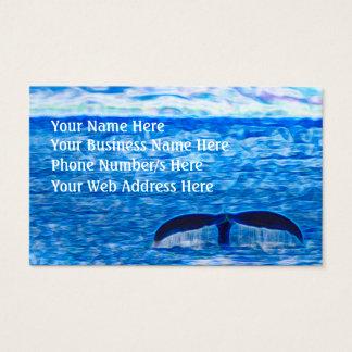 Cartão De Visitas Optimismo inspirado do oceano azul da cauda da