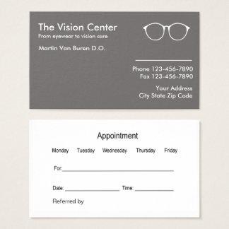 Cartão De Visitas Optometrista e cuidado da visão