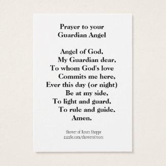 Cartão De Visitas Oração a seu anjo-da-guarda