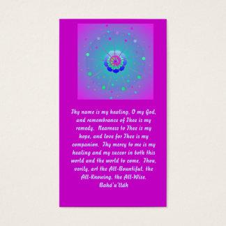 Cartão De Visitas Oração cura