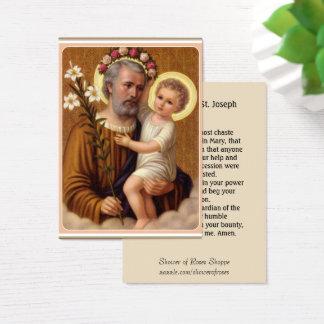 Cartão De Visitas Oração de Memorare do lírio de St Joseph Jesus