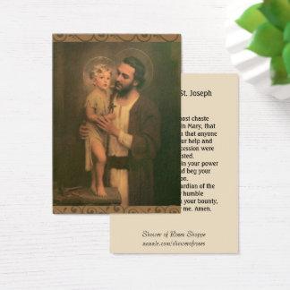 Cartão De Visitas Oração de Memorare dos anjos de St Joseph Jesus