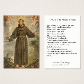 Cartão De Visitas Oração de St Francis de Assisi santamente