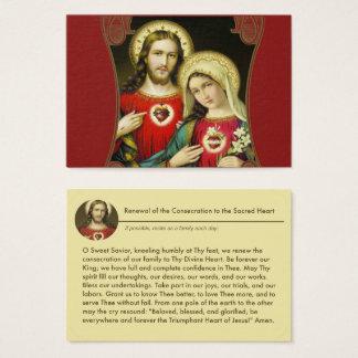 Cartão De Visitas Oração imaculada sagrado de Jesus Mary dos