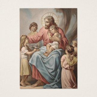 Cartão De Visitas Oração Jesus w/Children das avós