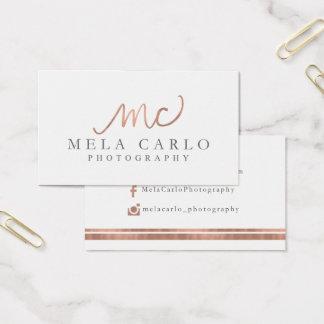 Cartão De Visitas Ordem feita sob encomenda para Mela
