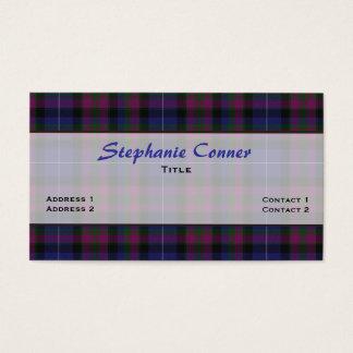 Cartão De Visitas Orgulho do costume da xadrez de Tartan de Scotland