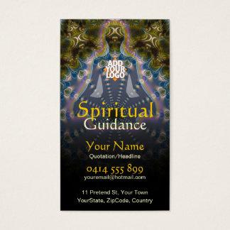 Cartão De Visitas Orientação espiritual do Fractal da ioga holística