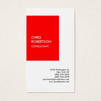 Cartão De Visitas Original moderno branco vermelho especial