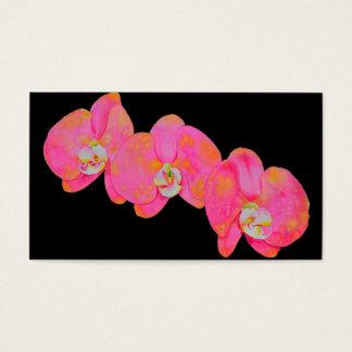 Cartão De Visitas Orquídeas cor-de-rosa
