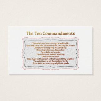 Cartão De Visitas Os 10 mandamentos