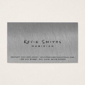 Cartão De Visitas os cinzento- esfriam e músico moderno