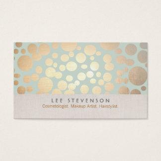 Cartão De Visitas Os círculos do ouro da cosmetologia empalidecem o