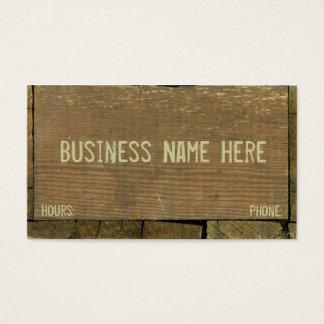 Cartão De Visitas Os conselhos de madeira, antigos resistiram a