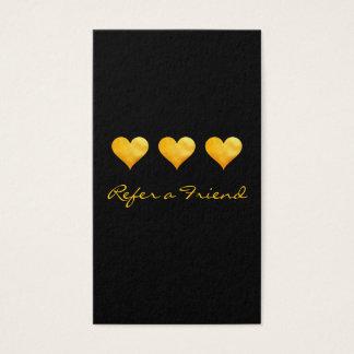 Cartão De Visitas Os corações bonitos do ouro consultam um amigo