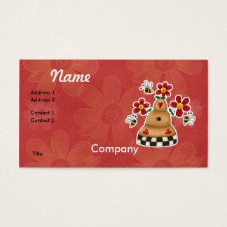 Cartão De Visitas Os corações felizes N florescem a colmeia da