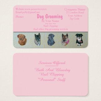 Cartão De Visitas os cuidados dos animais de estimação da preparação
