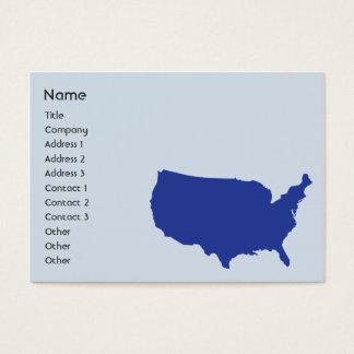 Cartão De Visitas Os Estados Unidos da América - carnudos