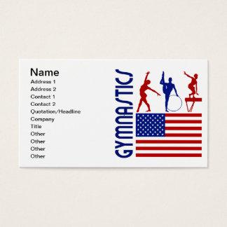 Cartão De Visitas Os Estados Unidos da ginástica