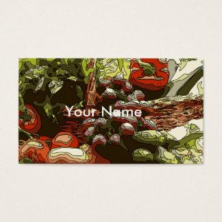 Cartão De Visitas Os fazendeiros introduzem no mercado frutas e