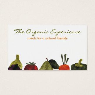 Cartão De Visitas os meios vegetarianos frutificam o negócio de