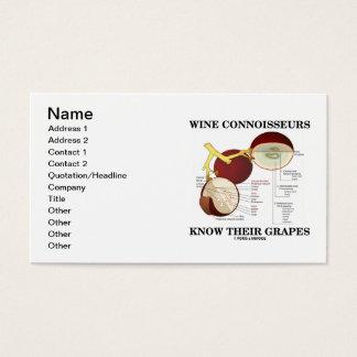 Cartão De Visitas Os peritos do vinho sabem suas uvas (a anatomia)