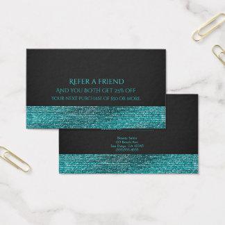 Cartão De Visitas Os Sequins Glam modernos azuis do Aqua consultam
