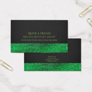 Cartão De Visitas Os Sequins Glam modernos do verde limão consultam