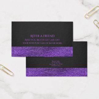 Cartão De Visitas Os Sequins Glam modernos roxos & cinzentos