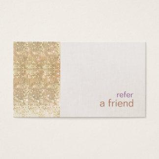 Cartão De Visitas Os Sequins modernos do ouro do FALSO consultam um