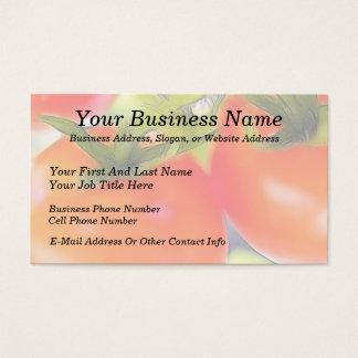 Cartão De Visitas Os tomates fecham-se acima