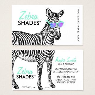 Cartão De Visitas Os vidros na moda do esboço engraçado bonito