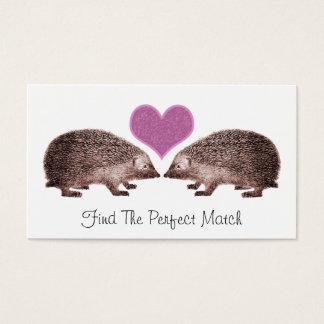 Cartão De Visitas Ouriços no namorando romântico da correspondência
