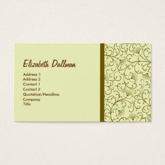 Cartão De Visitas Ouro amarelo elegante