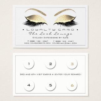 Cartão De Visitas Ouro branco Blac dos chicotes do salão de beleza