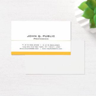 Cartão De Visitas Ouro branco profissional moderno liso básico
