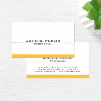 Cartão De Visitas Ouro branco profissional moderno liso simples