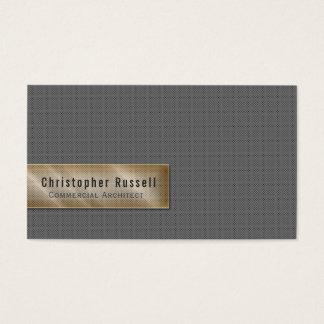 Cartão De Visitas Ouro & cinzas de Minimalistic