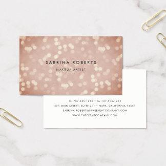 Cartão De Visitas Ouro cor-de-rosa Bokeh do cobre