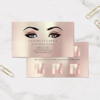 Cartão De Visitas Ouro cor-de-rosa da beleza do cliente do